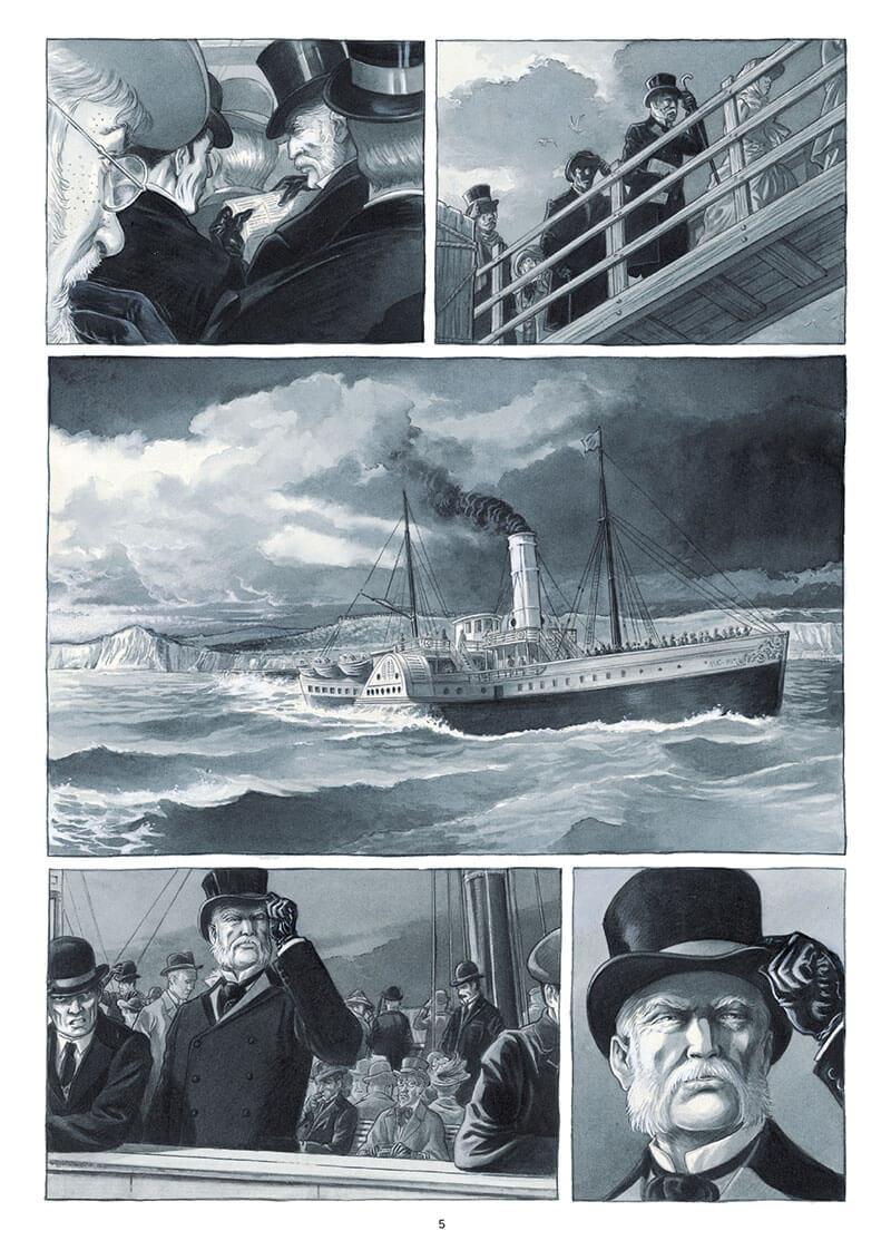 Holmes, planche du tome 5 © Futuropolis / Cecil / Brunschwig