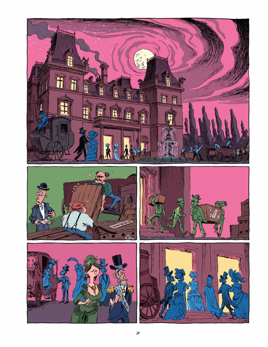 Homunculus, planche du tome 1 © Les Aventuriers de l'Etrange / Ryberg / Bødker / Enemark