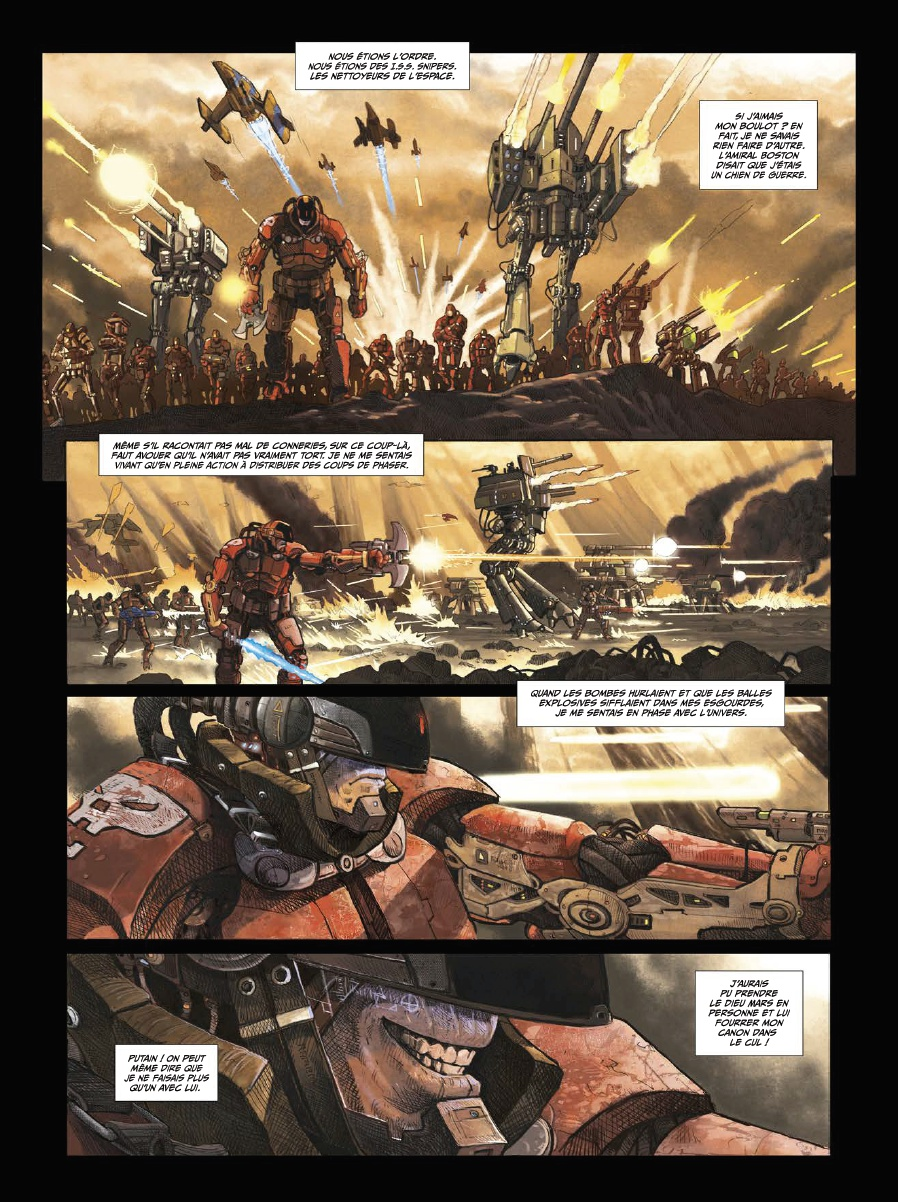 I.S.S. Snipers, planche du tome © Soleil / Seure-Le-Bihan / Istin