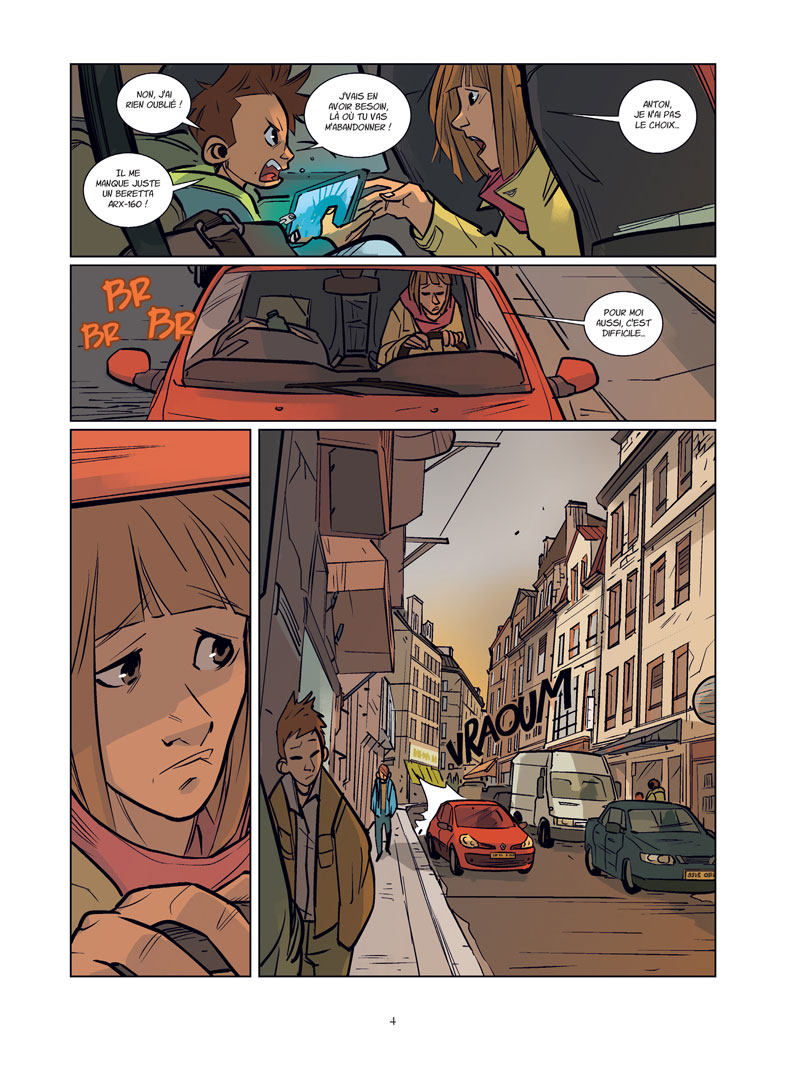 Inferni, planche du tome 1 © Jungle / Grelin / Boriau
