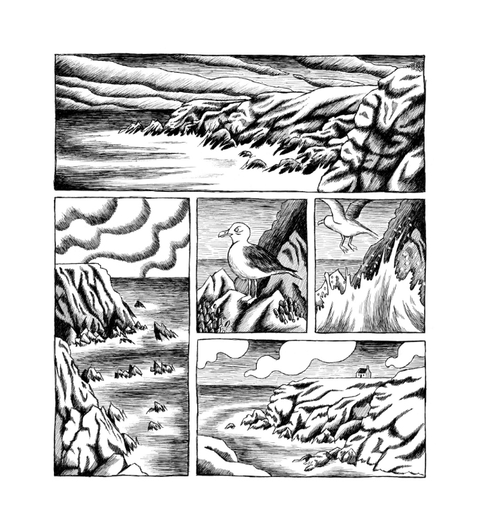 Insulaires, Petites histoires de Groix, planche de l'album © Warum / Buri