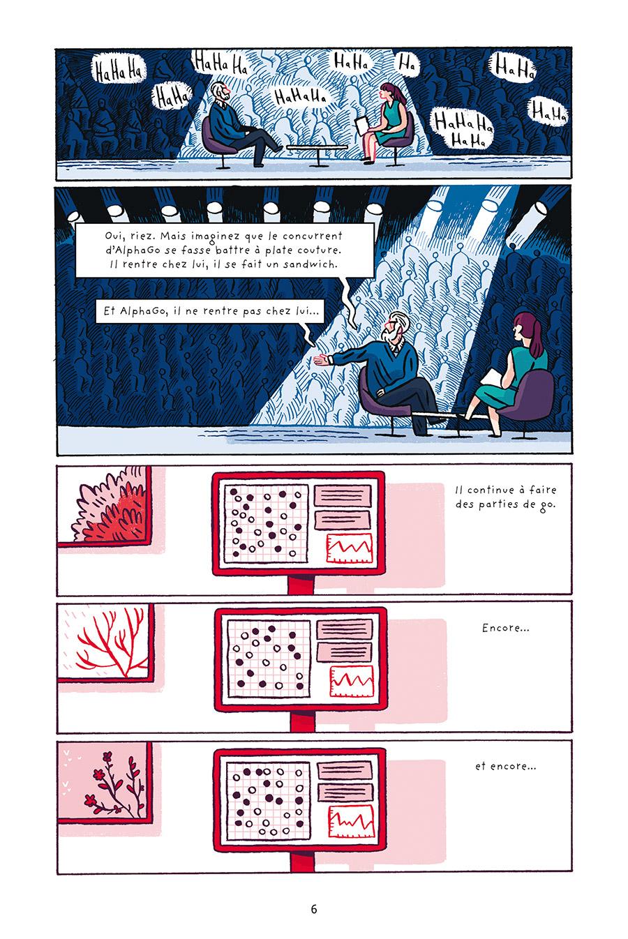 Intelligences Artificielles -Miroirs de nos vies-, planche de l'album © Delcourt / Chochois / Zephir / Tigre