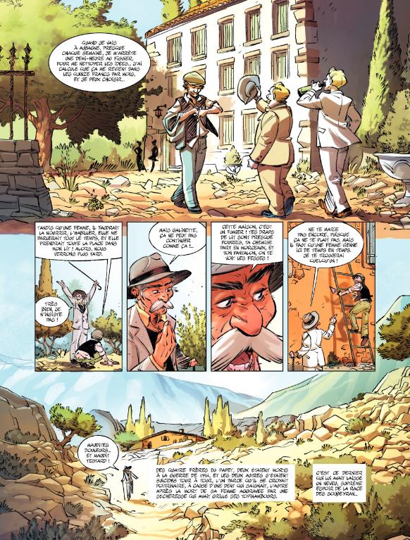 Jean de Florette, Première partie, planche du tome 1 © Bamboo / Tefenkgi / Scotto / Stoffel / Guillé