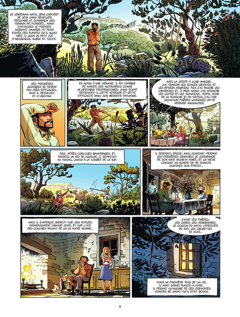 Jean de Florette, planche du tome 2 © Bamboo / Galland / Stoffel / Scotto / Guillé