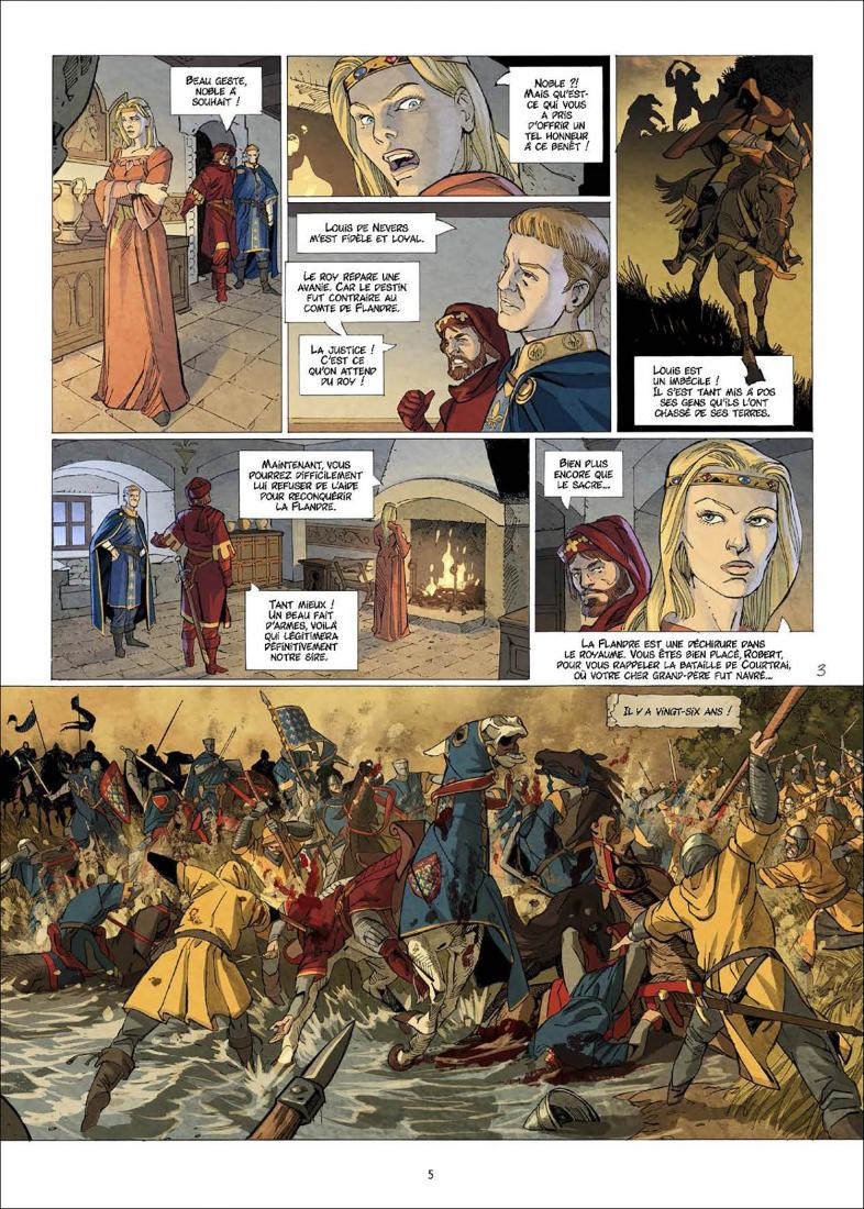 Jeanne, La mâle Reine, plance du tome 3 © Delcourt / Suro / Richemond / Fogolin