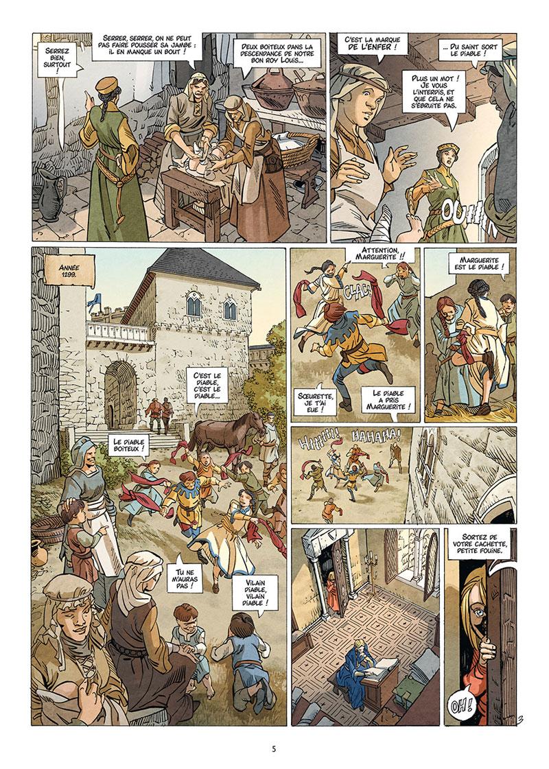Jeanne, La mâle, planche du tome 1 © Delcourt / Suro / Richemond / Fogolin