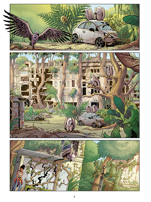 Jungle Urbaine, planche de l'album © Jungle / Kmixe / Viozat / Dema-Loize