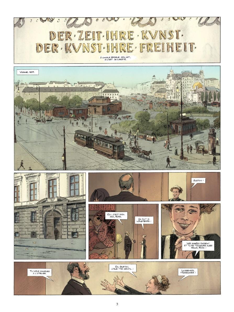 Klimt, Judith et Holopherne, planche de l'album © Glénat / Marc-Renier / Cornette / Barthélémy