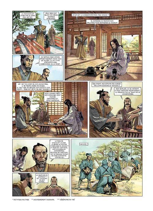 Kurusan, le samuraï noir, planche du tome 2 © Delcourt / Zarcone / Gloris / Tatti