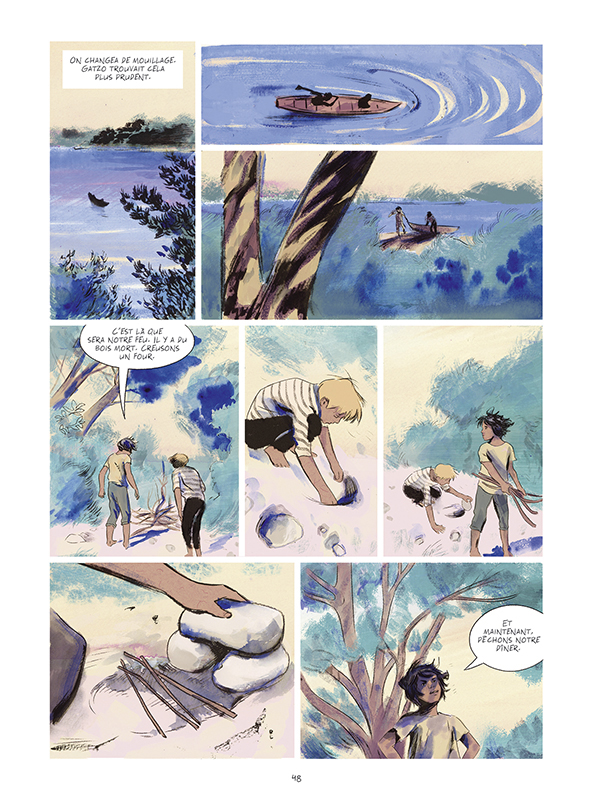 L'Enfant et la rivière, planche de l'album © Sarbacane / Coste