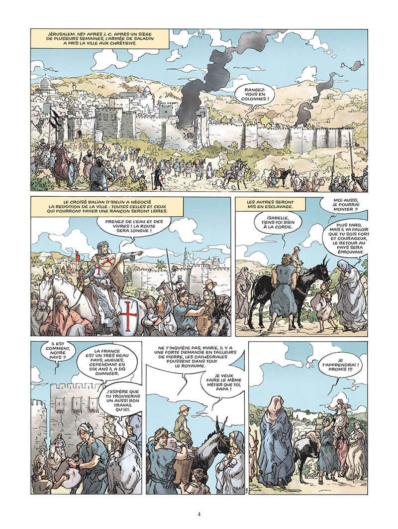 L'Epopée de la Franc-Maconnerie, planche du tome 2 © Glénat / Pâques / Convard / Césano