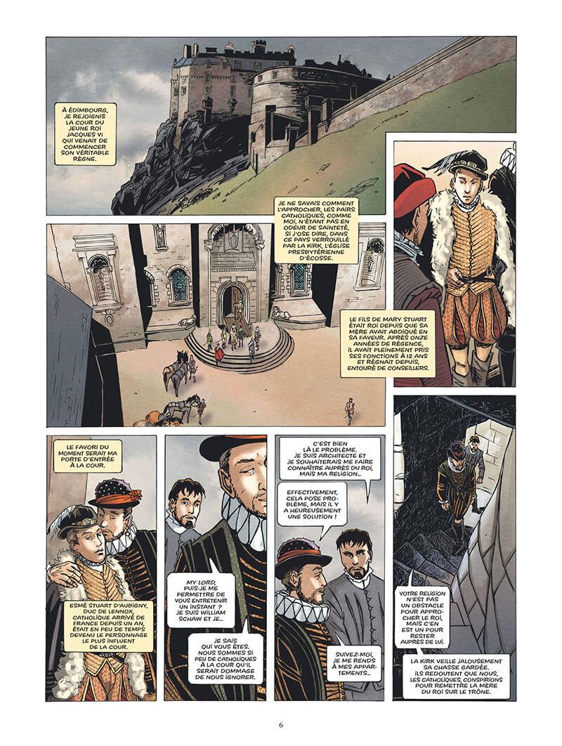 L'Epopée de la Franc-Maconnerie, planche du tome 3 © Glénat / Wagner / Boisserie / Césano