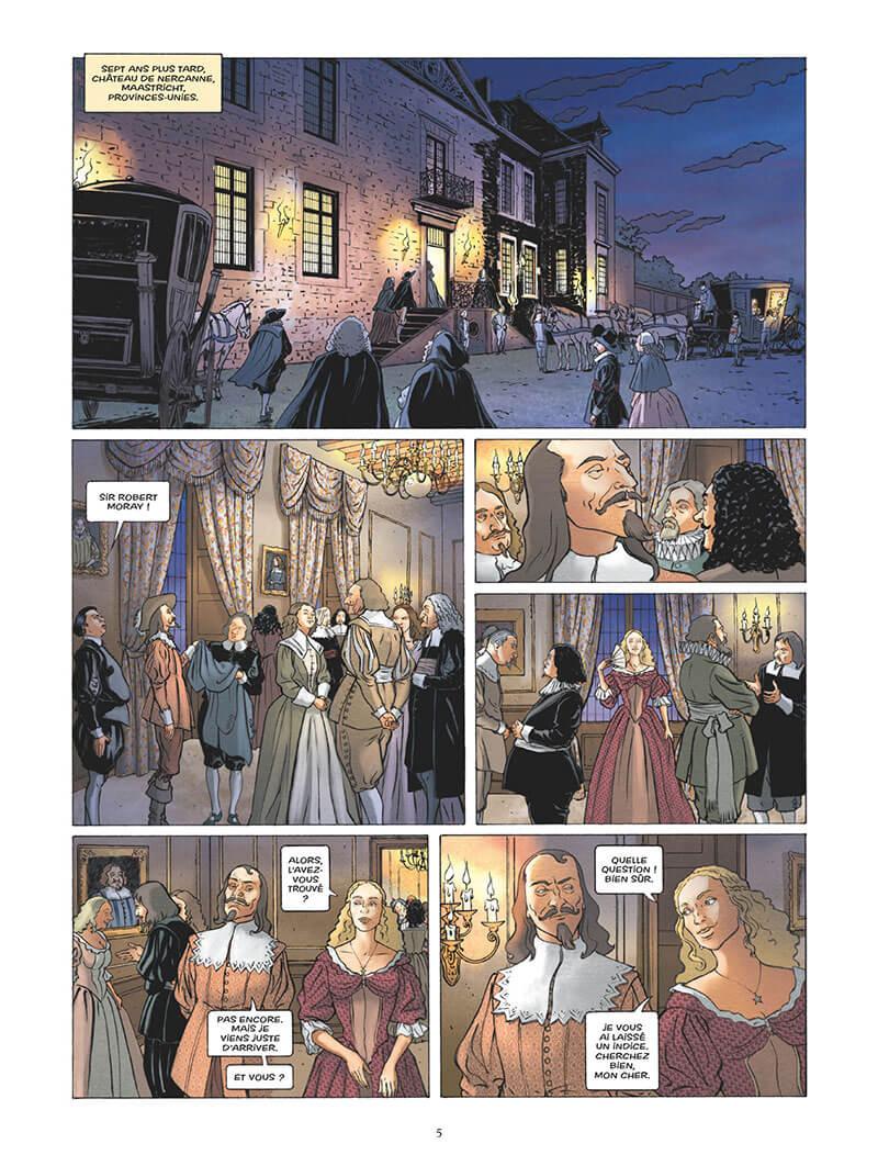 L'Epopée de la Franc-Maconnerie, planche du tome 4 © Glénat / Wachs / Boisserie / Césano