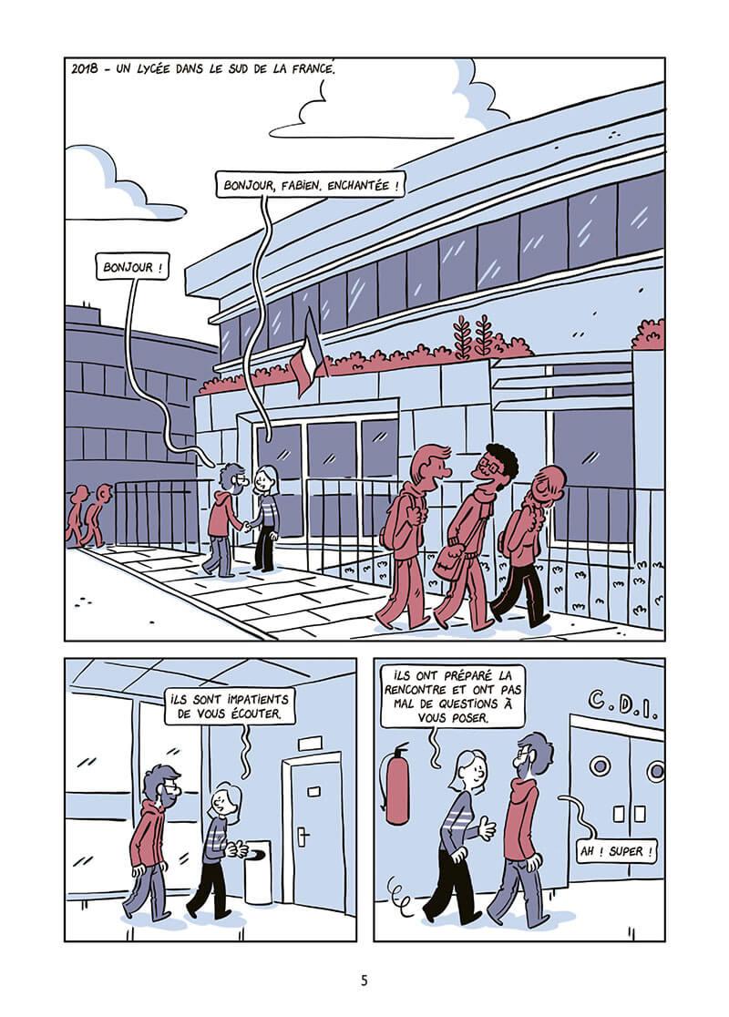 L'odyssée d'Hakim, planche du tome 3 © Delcourt / Toulmé