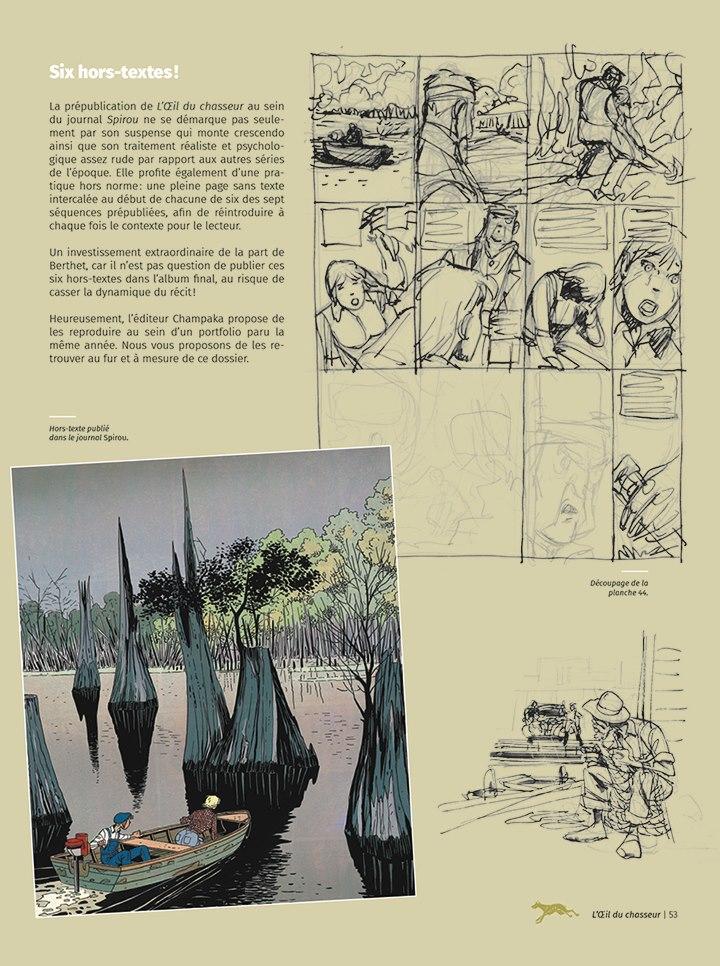 L'Oeil du Chasseur, extrait du dossier accompagnant cette réédition © Anspach / Berthet / Foerster / Beaumenay-Joannet