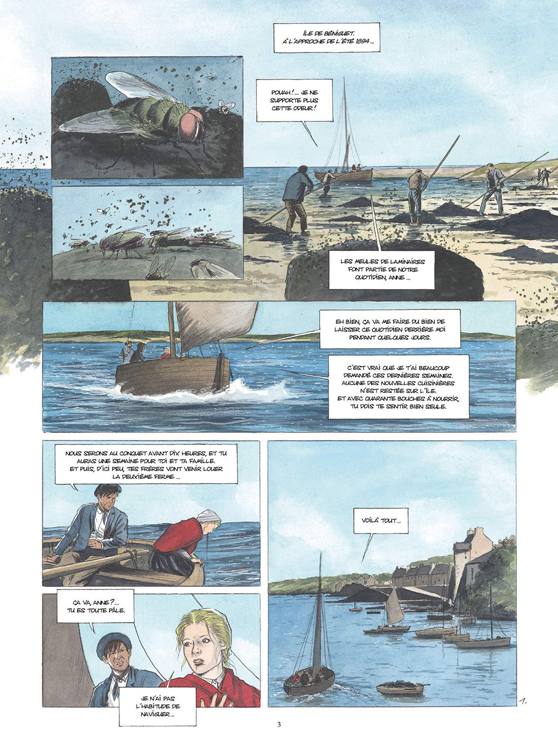 l'Or des Marée, planche du tome 2 © Glénat / Fino / Debois / Raguénès