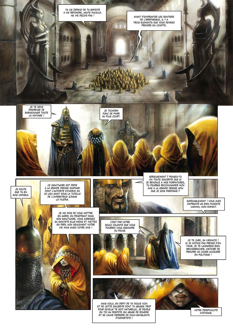 La Cathédrale des Abymes, planche du tome 1 © Soleil / Grenier / Istin
