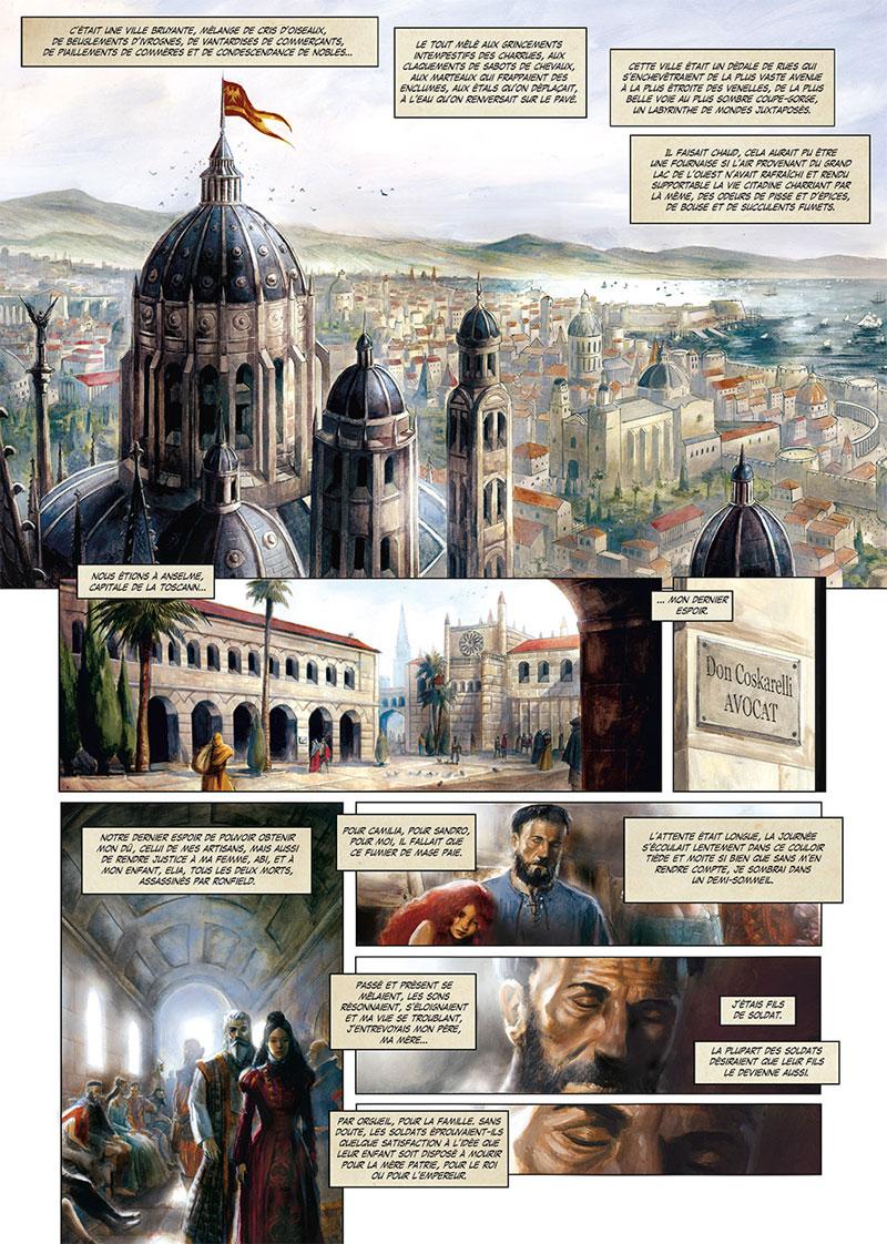 La Cathédrale des Abymes, planche du tome 2 © Soleil / Grenier / Istin