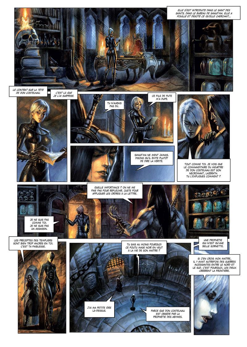 La Cathédrale des Abymes, planche du tome 3 © Soleil / Grenier / Istin