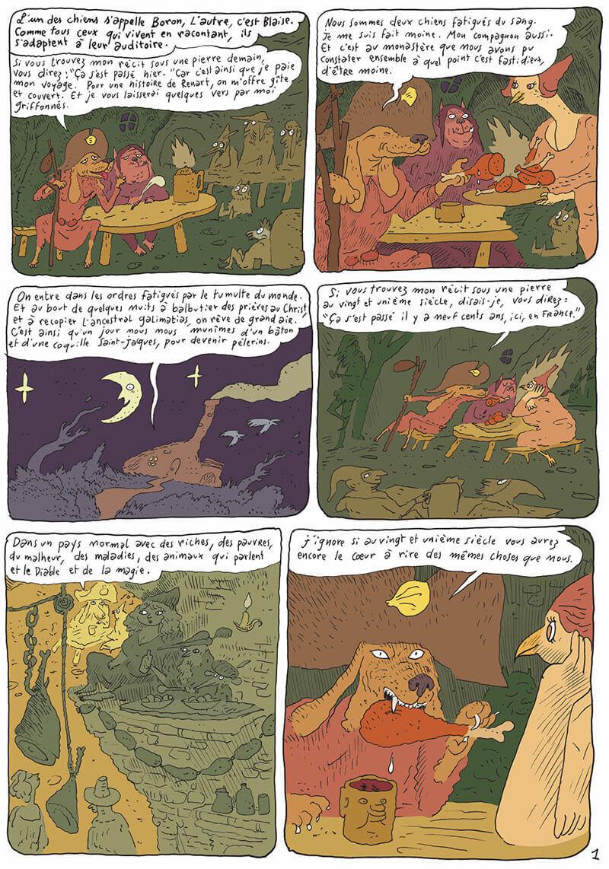La Chanson de Renart, planche du tome 1 © Gallimard / Sfar