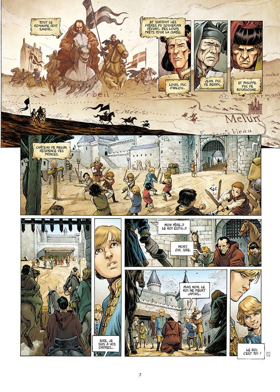 La Couronne de Verre, planche du tome 1 © Delcourt / Bennato / Richemond / Poupelin