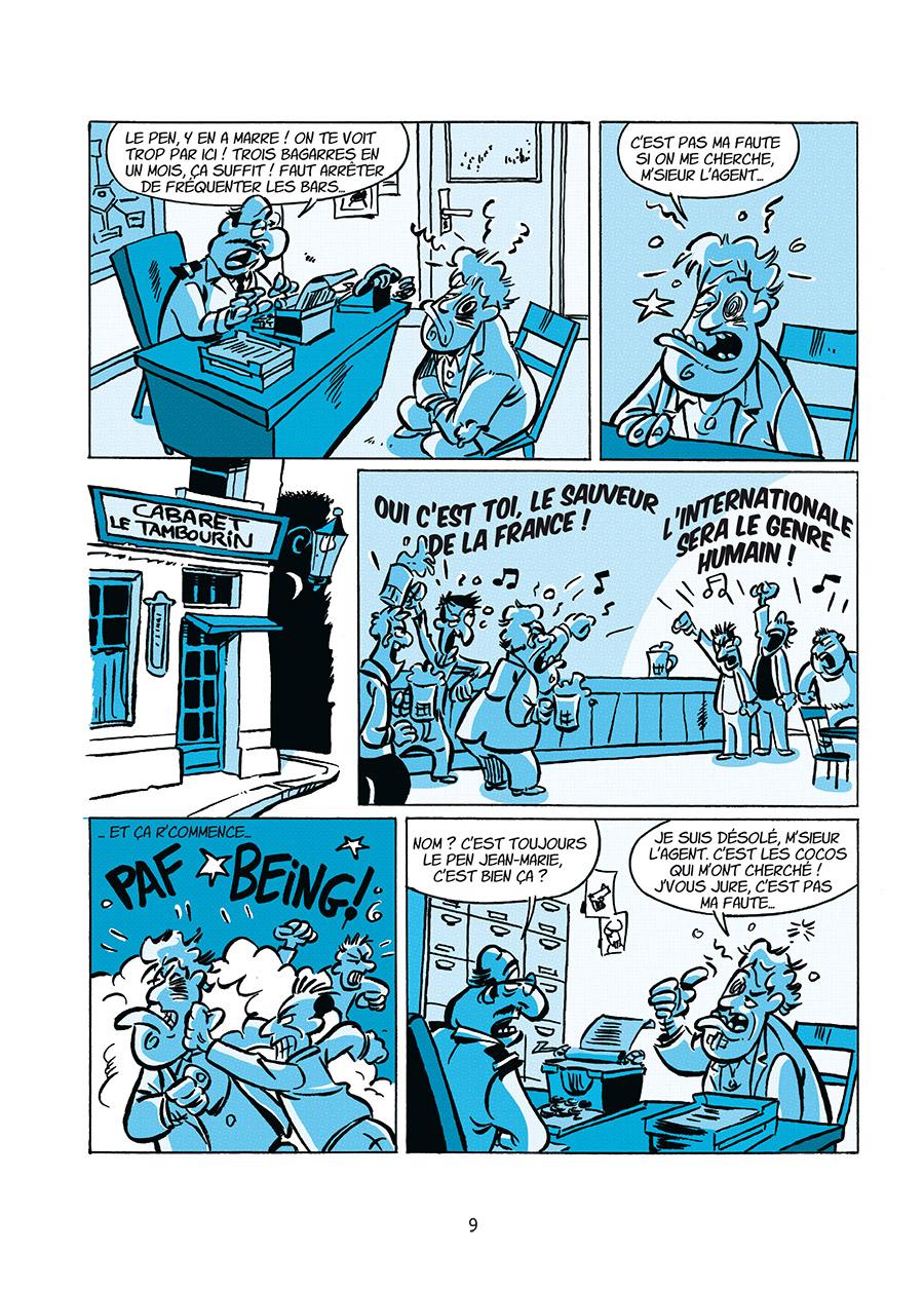 la dynastie Le Pen, son univers impitoyable, planche de l'album © Delcourt / Coicault / Dely