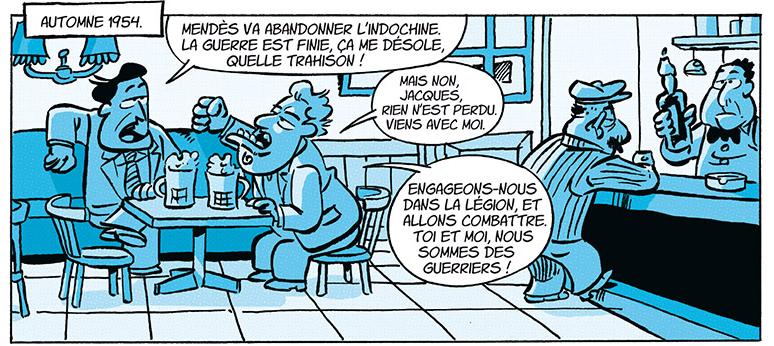 la dynastie Le Pen, son univers impitoyable, case de l'album © Delcourt / Coicault / Dely