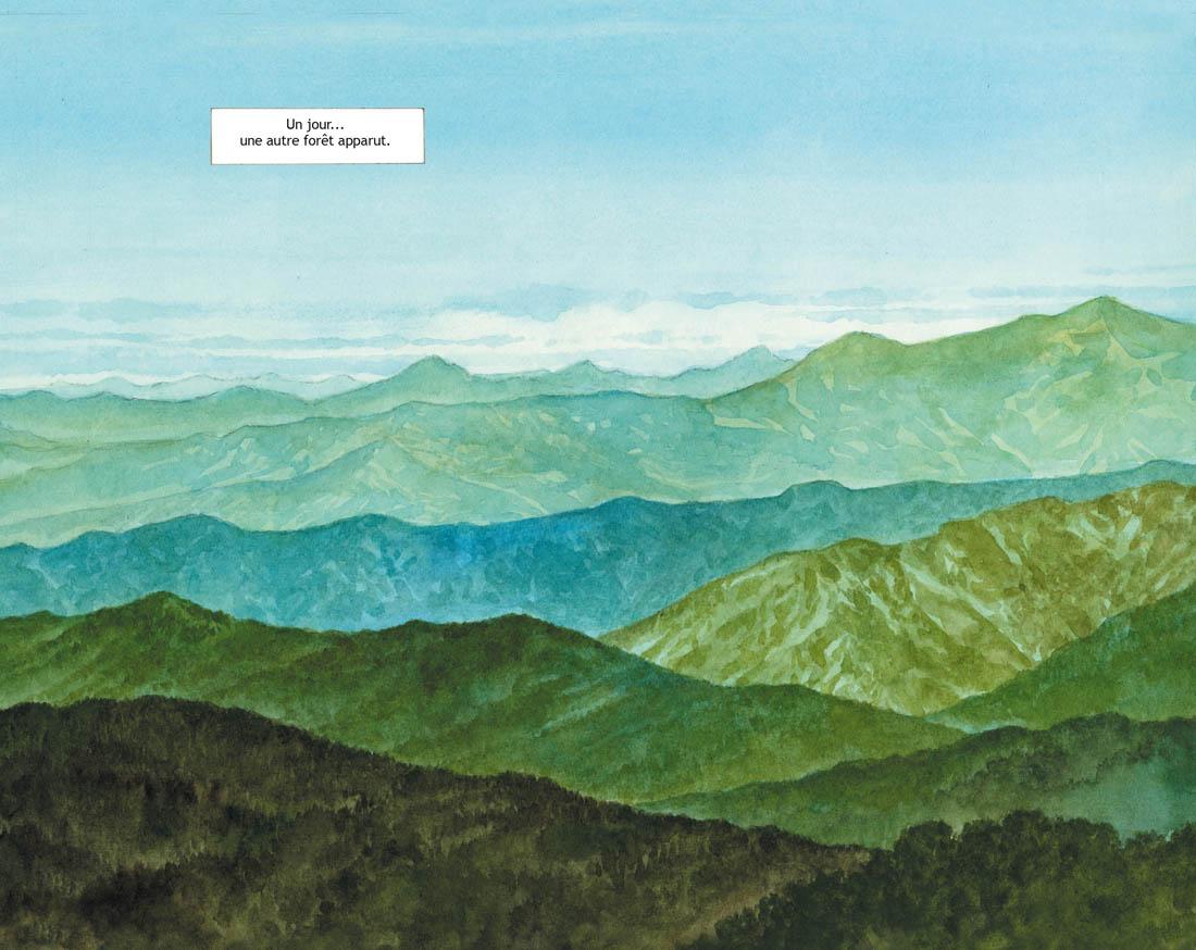 La forêt millénaire, planche de l'album © Rue de Sèvres / Taniguchi