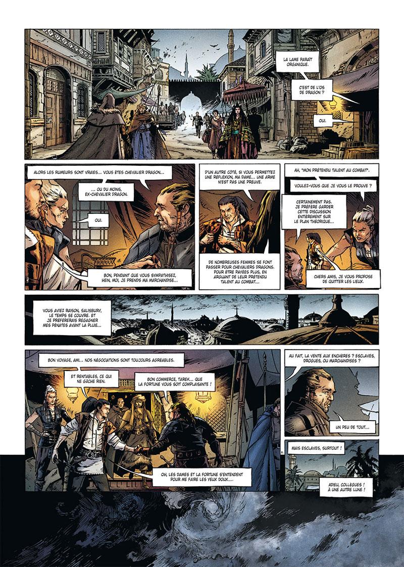 La Geste des Chevaliers Dragons, planche du tome 24 © Soleil / Collignon / Ange / Paitreau