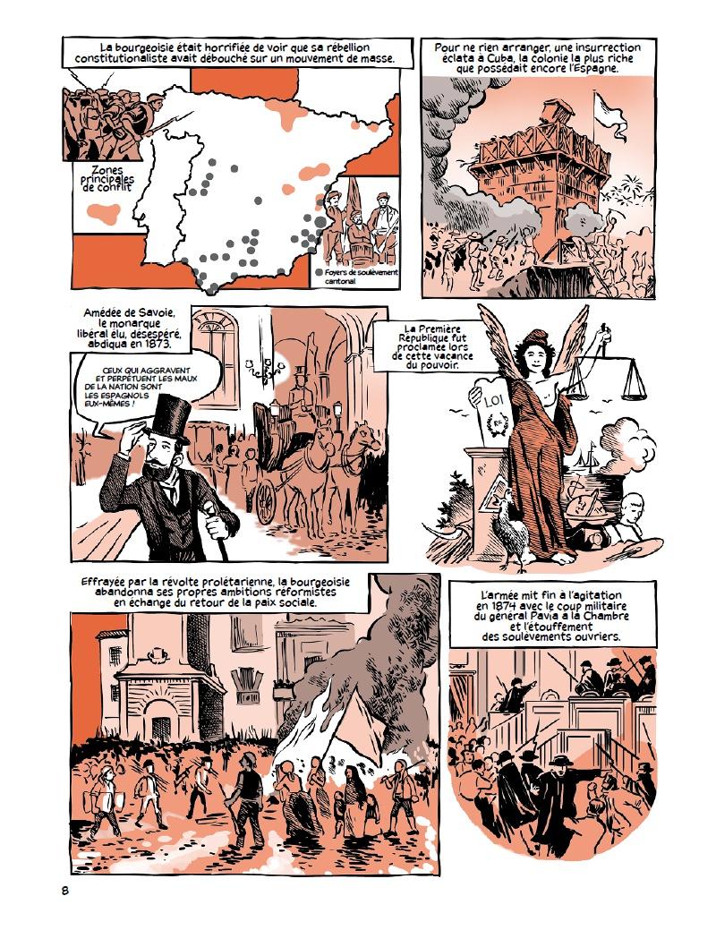 La guerre civile espagnole, planche de l'album © Belin / Garcia / Preston