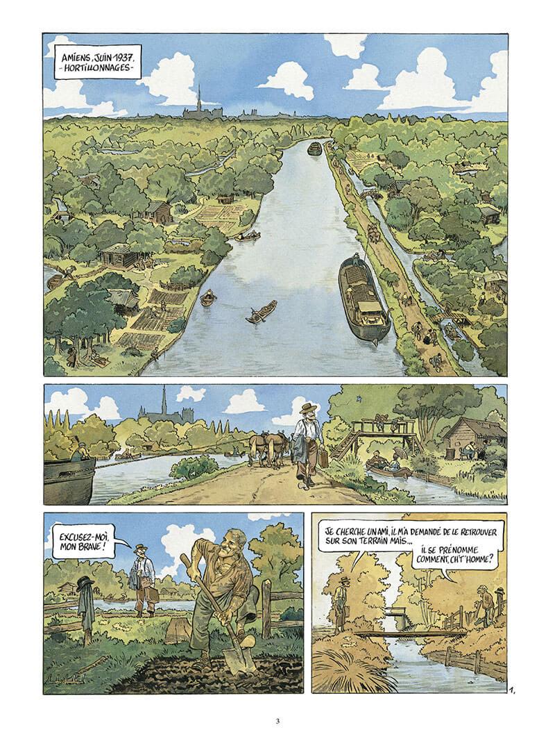 La Guerre des Lulus, la Perspective Luigi, planche du tome 2 © Casterman / Cuvillier  / Hautière /  François