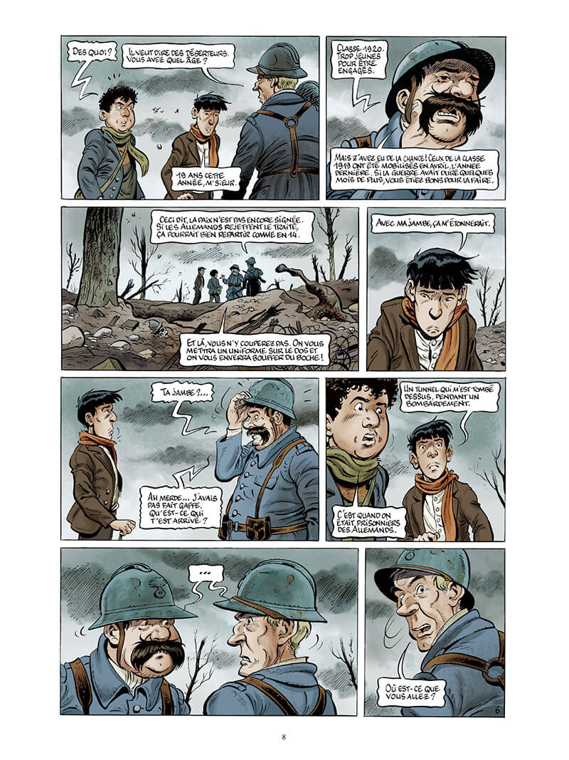 La guerre des Lulus, planche du tome 7 © Casterman / Hardoc / Hautière / Perimony