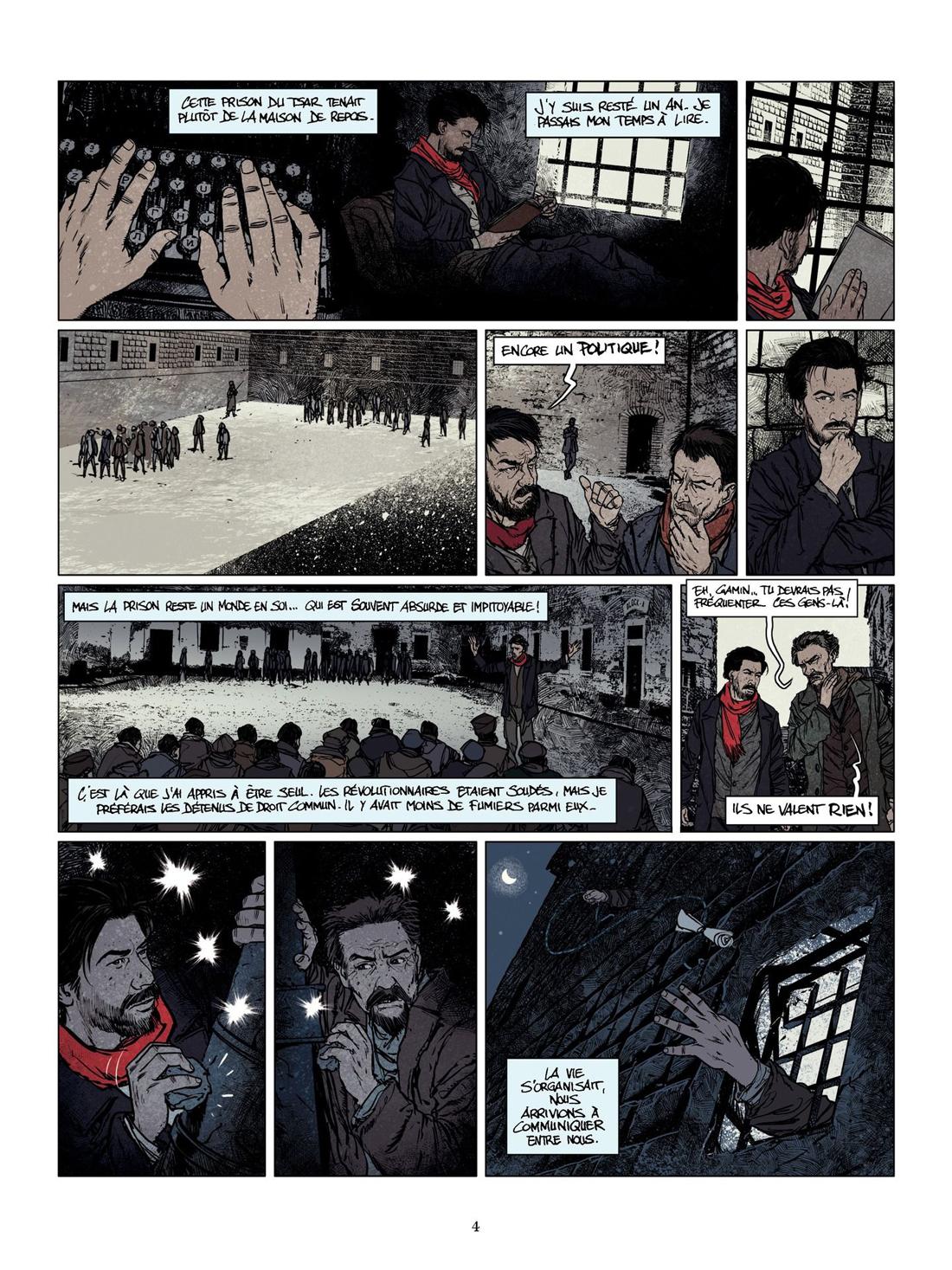 La jeunesse de Staline, planche du tome 2 © Les Arènes / Lieberge / Prolongeau / Delalande