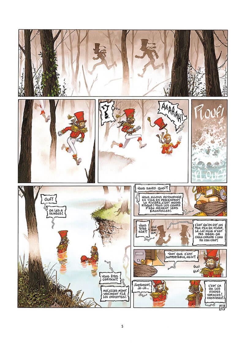 La Nef des Fous, planche du tome 9 © Delcourt / Turf