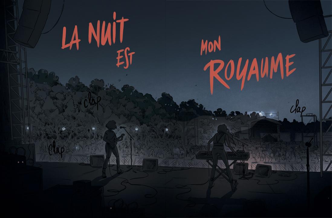 La nuit est mon royaume, planche de l'album © Rue de Sèvres / Fauvel