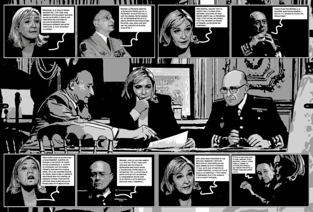 La Présidente, planche du tome 3 © Arenes / Boudjellal / Durpaire / Muller