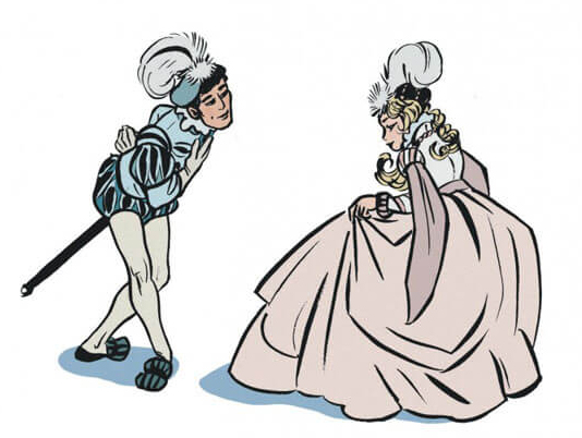 La princesse de Clèves, planche de l'album © Delcourt / Bouilhac / Catel / Madame de La Fayette