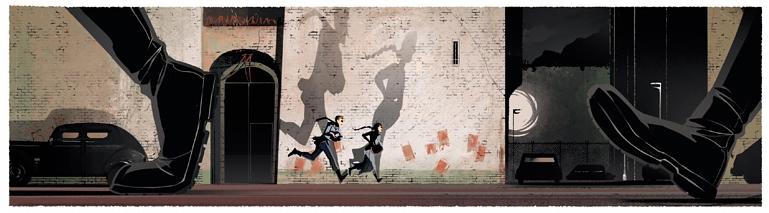 La Valise, planche de l'album © Akileos / Amalric / Schmitt Giordano / Ranville