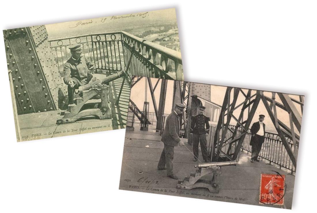 Le canonnier de la Tour Eiffel, photo d'époque