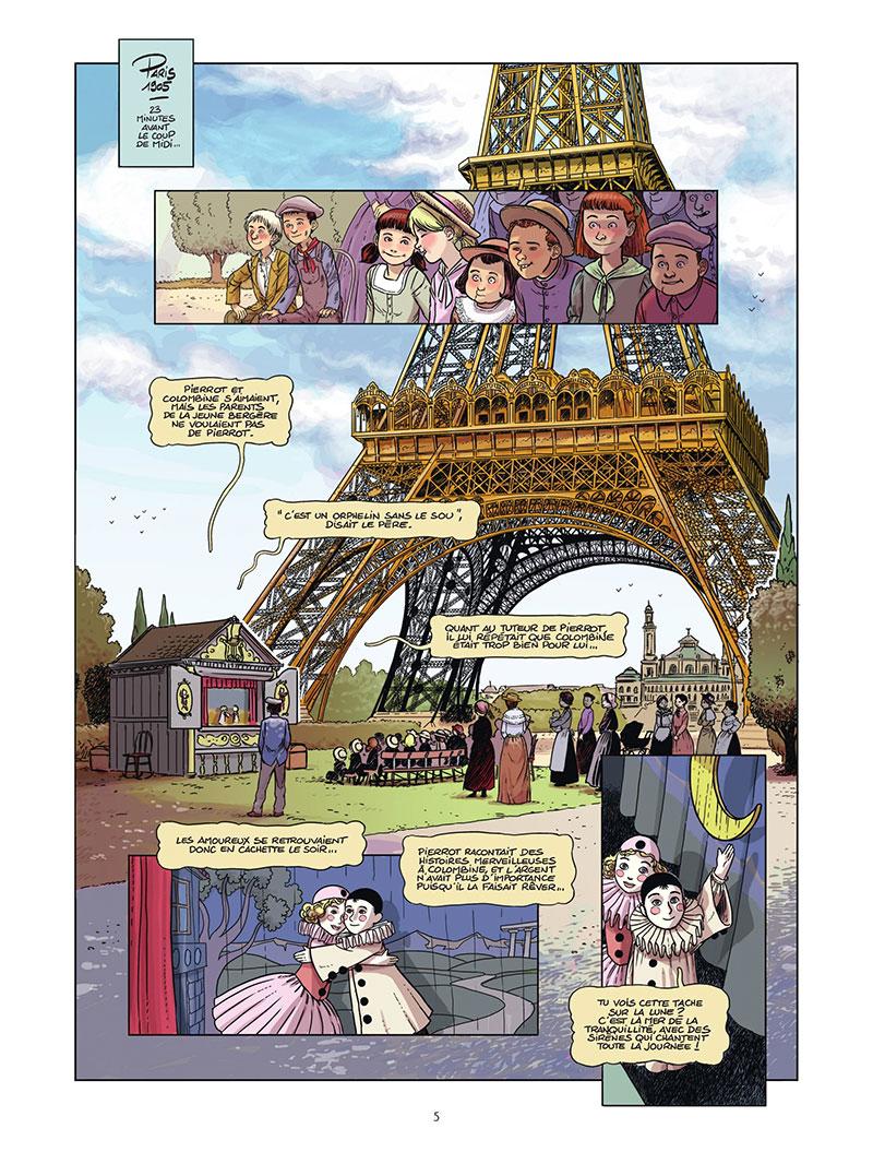 Le canonnier de la Tour Eiffel, planche de l'album © Bamboo / Ratte / Richez / Manini / Ratte