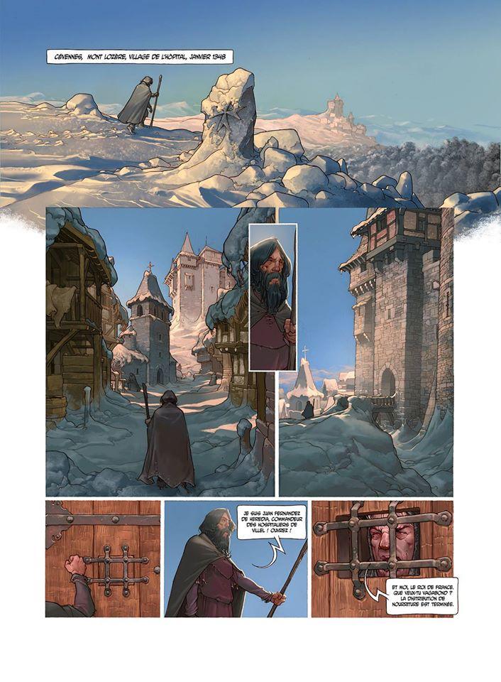 Le Chevalier à la Licorne, planche de l'album © Soleil/ González / Piatzszek