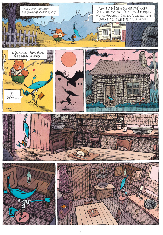 Le Clan de la Rivière Sauvage, illustration © Editions De La Gouttiere  / Dillies / Hautiere / Bouchard