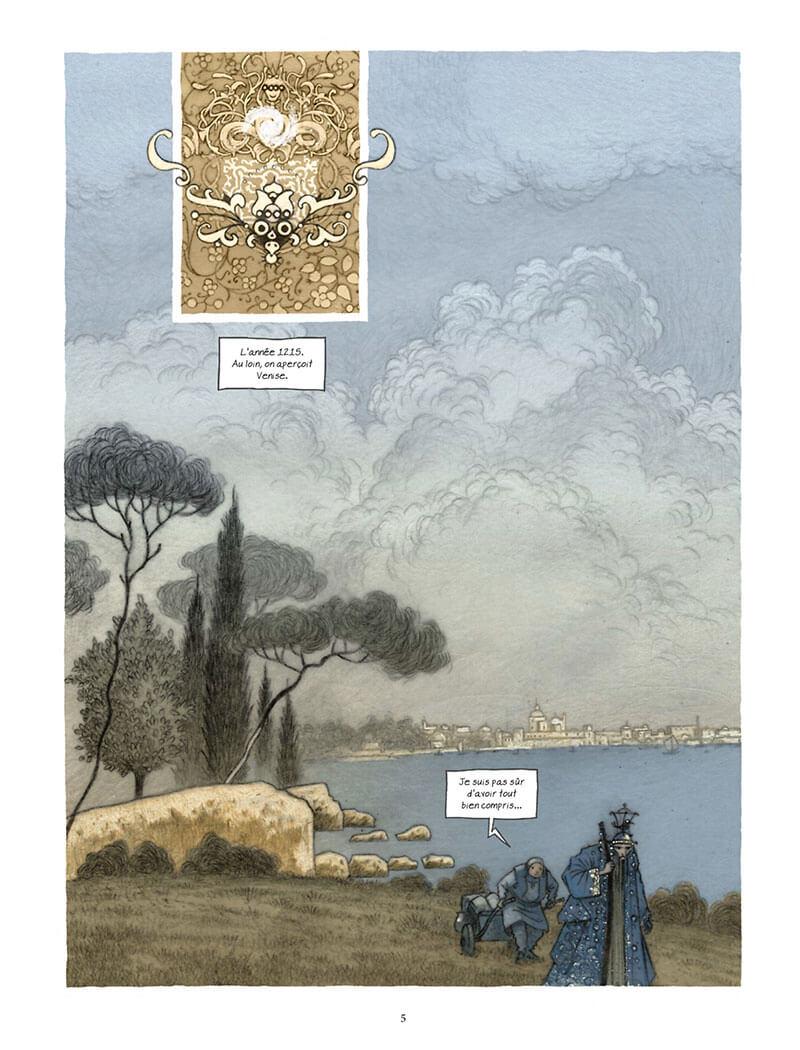 Le Livre des Merveilles, planche de l'album © Soleil / Froissard / Le Roux