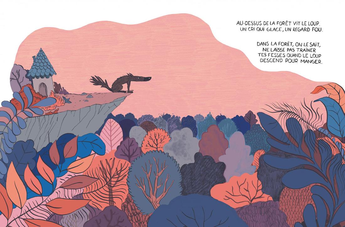 Le Loup en slip, planche de l'album © Dargaud / Itoïz / Cauuet / Lupano