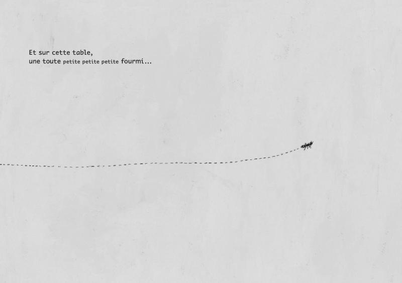 Le Loup et la Fourmi, planche de l'album © L'Ecole des Loisirs / Ashbé