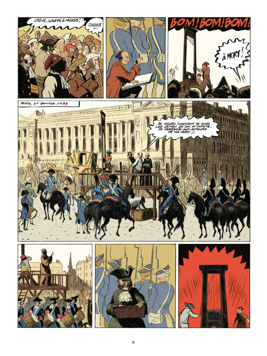 Le Peintre hors-la-loi, planche de l'album © Casterman / Duchazeau / Drac