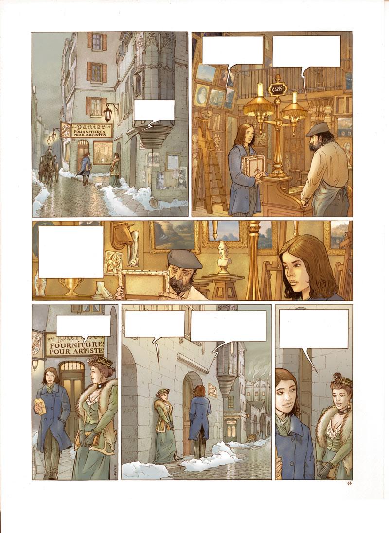 Le rendez-vous d'onze heures, planche de l'album © les Editions du long bec / Houot / Charrance