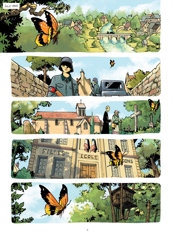 Le Réseau Papillon, planche du tome 1 © Jungle / Otéro / Dumanche