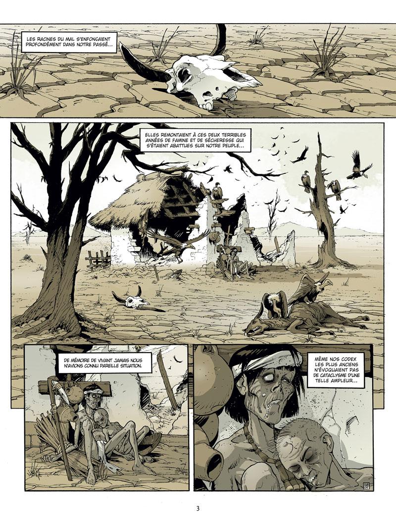 Le Serpent et la Langue, planche du tome 1 © Delcourt / Hub / Michalak / Li