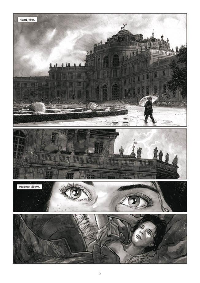 Le Suaire, planche du tome 2 © Futuropolis / Liberge / Mordillat / Prieur